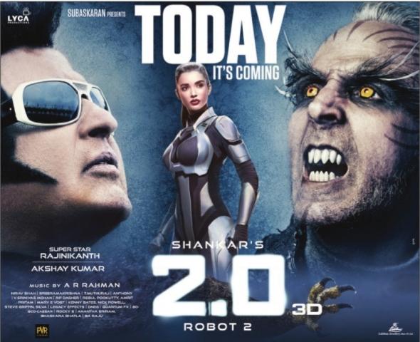 Rajinikanth Akshay Kumar 2.o Movie Release On Today