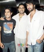 Rana,Abhi,Priethik at Dum Maro Dum Screening