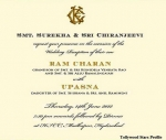 Ramcharan Tej & Upasana Wedding Invitation