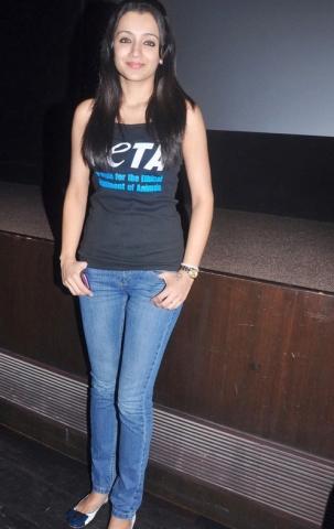 Trisha at PETA