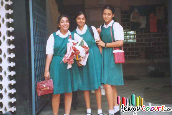 Trisha with School Friends
